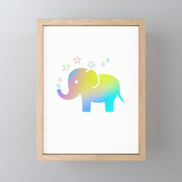 Rainbow Elephant Framed Mini Art Print