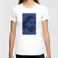pirlo T-shirts featuring World Cup Edition - Andrea Pirlo / Italy by Milan Vuckovic