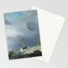 Willem van de Velde the Younger - Ships in a Gale Stationery Cards