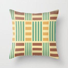 Check Pattern Green Blue Checks Throw Pillow