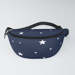 Scattered Stars White on Midnight Blue Fanny Pack