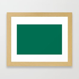 PANTONE 18-5845 Lush Meadow Framed Art Print