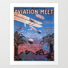 Vintage poster - Aviation Meet Art Print
