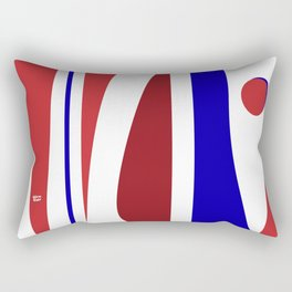 Dancing - Red and Blue #minimal #art #design #kirovair #buyart #decor #home Rectangular Pillow