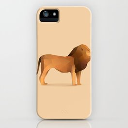 Geometric Lion - Modern Animal Art iPhone Case