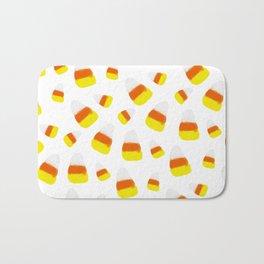 Cute halloween candy corn orange yellow watercolor pattern Bath Mat