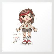 Funky girl Art Print