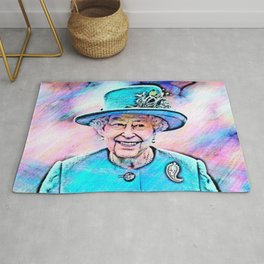 Queen Elizabeth II Artistic Illustration Fairy Style Rug