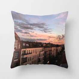 Over the roofs of Berlin Throw Pillow