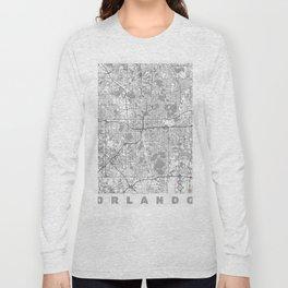Orlando Map Line Long Sleeve T-shirt
