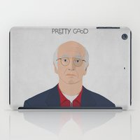 larry david iPad Cases featuring Larry David // Curb Your Enthusiasm // Graphic Design // Seinfeld by Dick Smith Designs