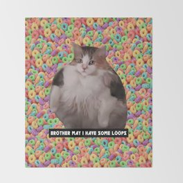 Loops Brother Kitty Throw Blanket