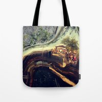 sonic Tote Bags featuring Sonic Reflections by KunstFabrik_StaticMovement Manu Jobst