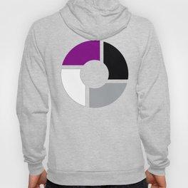 Asexual Pride Flag Circle Hoody