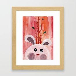 Cute Bunny Portrait Framed Art Print