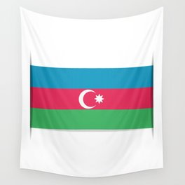 Flag of Azerbaijan. The slit in the paper with shadows.  Wall Tapestry