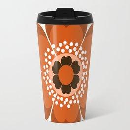 Coolie - retro flower 70s vibes minimalist floral 1970's colorful decor Travel Mug