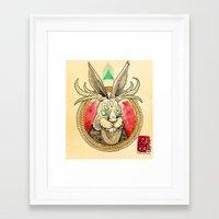 jackalope Framed Art Prints featuring Jackalope by Tristan Lloyd Lewellyn