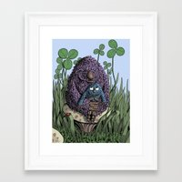 mom Framed Art Prints featuring Mom by David Comito