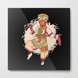 Peruvian Scissors Dancer Peru Dance Metal Print