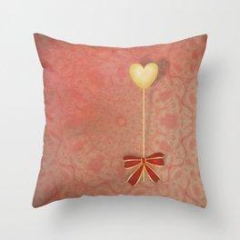 beautiful heart on texture kaleidoscope Throw Pillow
