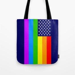 Gay USA Rainbow Flag - American LGBT Stars and Stripes Tote Bag