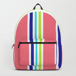 Summery Cool Lines Backpack