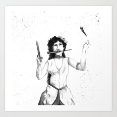 Knife Trower Art Print