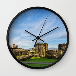 Caerphill Castle Panorama Wall Clock