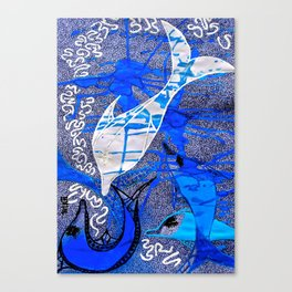 Dolphin Spirit tetkaART Canvas Print