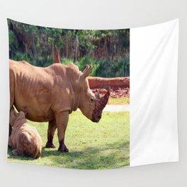 Rhinos Wall Tapestry