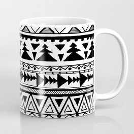 Tribal bohemian Mexican Aztec Style Pattern Doodle Coffee Mug