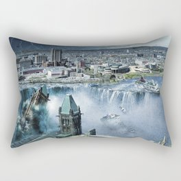 Earth Falls Away Rectangular Pillow