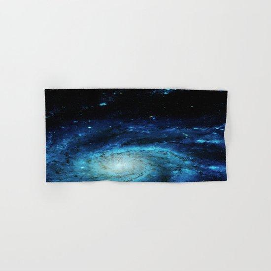 Teal Pinwheel Galaxy Hand & Bath Towel