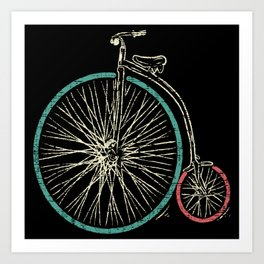 Cycling Forever | Penny Farthing High Wheel Art Print