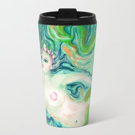 PAINTING Art Print by  Anna saucier goddess nude mermaid under water swimming , Travel Mug