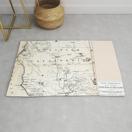 Northern California Map 1866 Rug