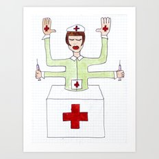 Mrs. fuck vaccine Art Print