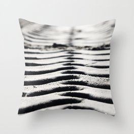 Traces in the sand 3 Throw Pillow