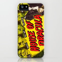 House of Dracula, vintage horror movie poster iPhone Case