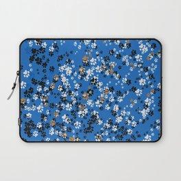 Cat Paws & Blue Laptop Sleeve