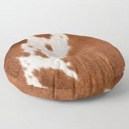 Cowhide, Cow Skin Print Pattern Floor Pillow
