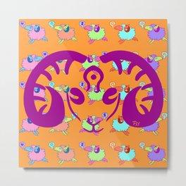 Blotter art 3-Sheepy Metal Print