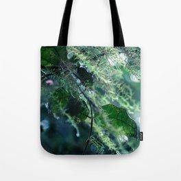 Leaves in Morning Dew Tote Bag