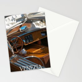 Wood boat Venice Italy photography Stationery Cards