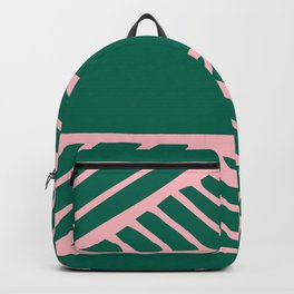 Boho Ethnic Pattern No 01 - Pink and Green Backpack