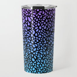 Drops - pink, purple and turquoise bright ombre Travel Mug