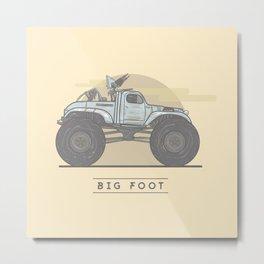 Mad Max: Fury Road - Big Foot Metal Print