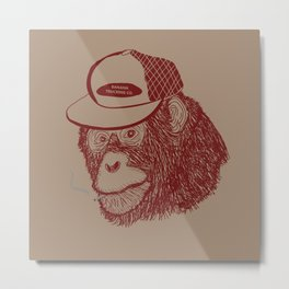 Monkey Trucker Metal Print