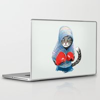 boxing Laptop & iPad Skins featuring Boxing Cat by Tummeow